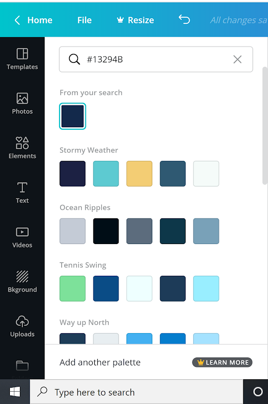 canva color selector